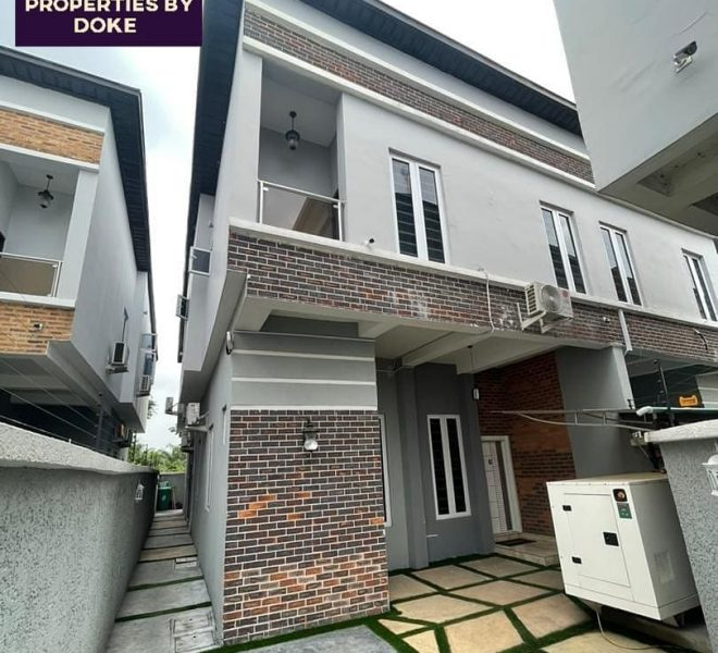 Property For Sale In Lagos | fully furnished Four bedrooms semi-detached apartment